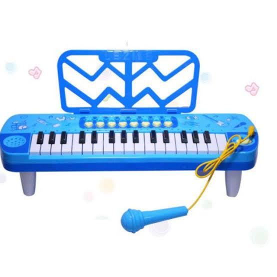ليتل ميوزيشن لوحة مفاتيح 32 مفتاحًا متعدد الوظائف بيانو إلكتروني مع ميكروفون