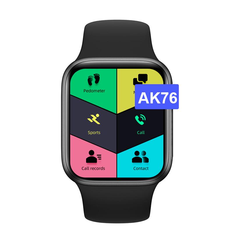 AK76 Smartwatch- اسود
