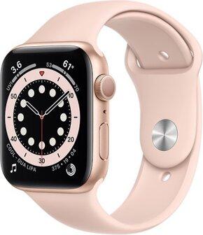 ساعة 6 44 ملم (GPS) هيكل ألومنيوم حزام رياضي وردي