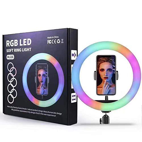 RGB LED SOFT RING LIGHT MJ26 - 33 سم مع وحدة تحكم