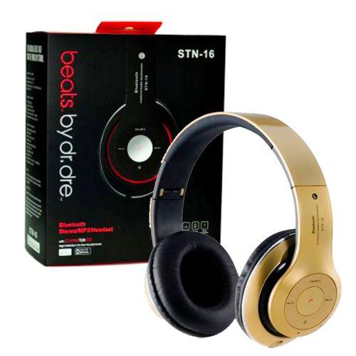 سماعات رأس ستريو لاسلكية بتقنية البلوتوث عالية الدقة STN-16- اسود