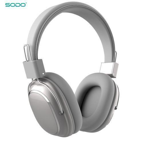 SODO SD-1004 سماعة بلوتوث سلكية / لاسلكية - رمادي