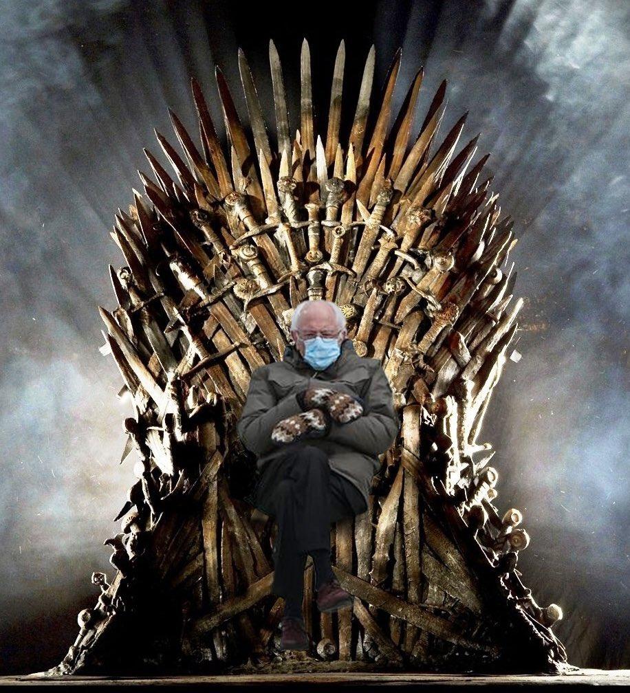 Bernie meme game of thrones