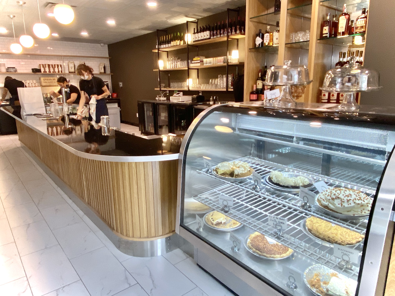 Honeypie Cafe bar and pie case