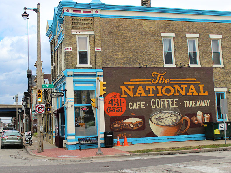 The exterior of The National Cafe