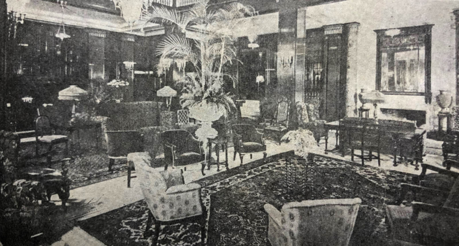 Vintage lobby view