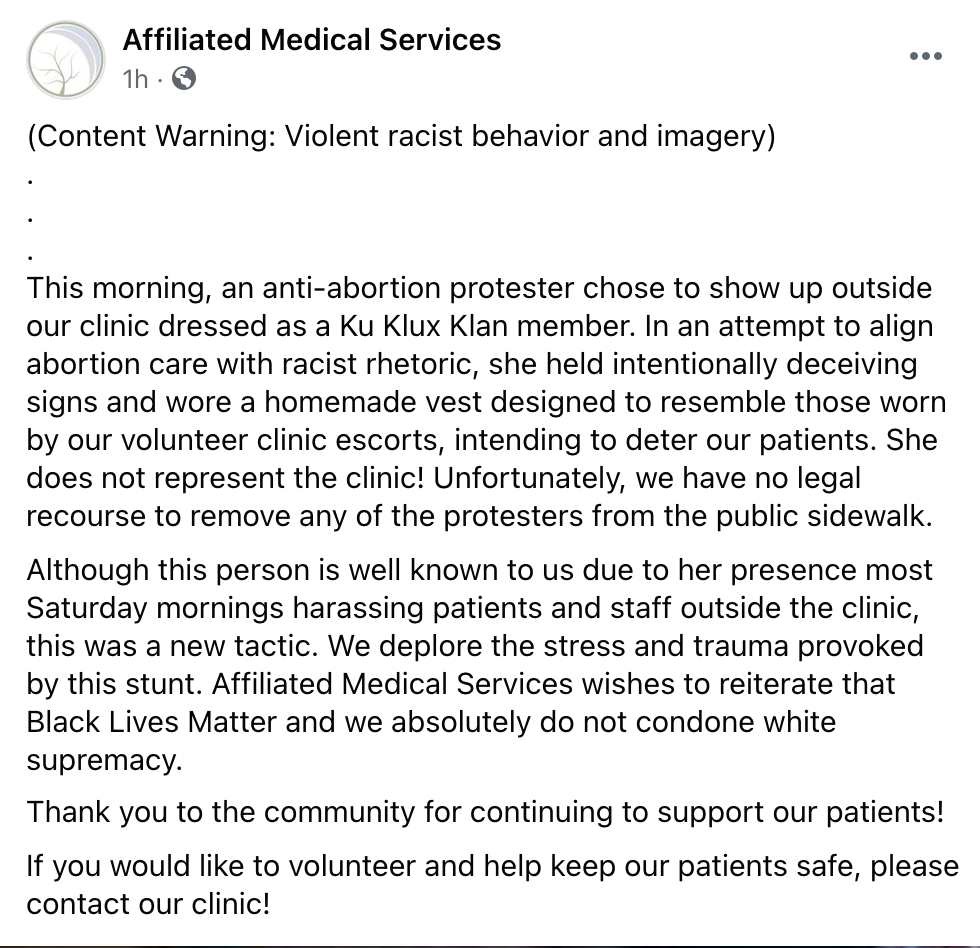 statement from clinic