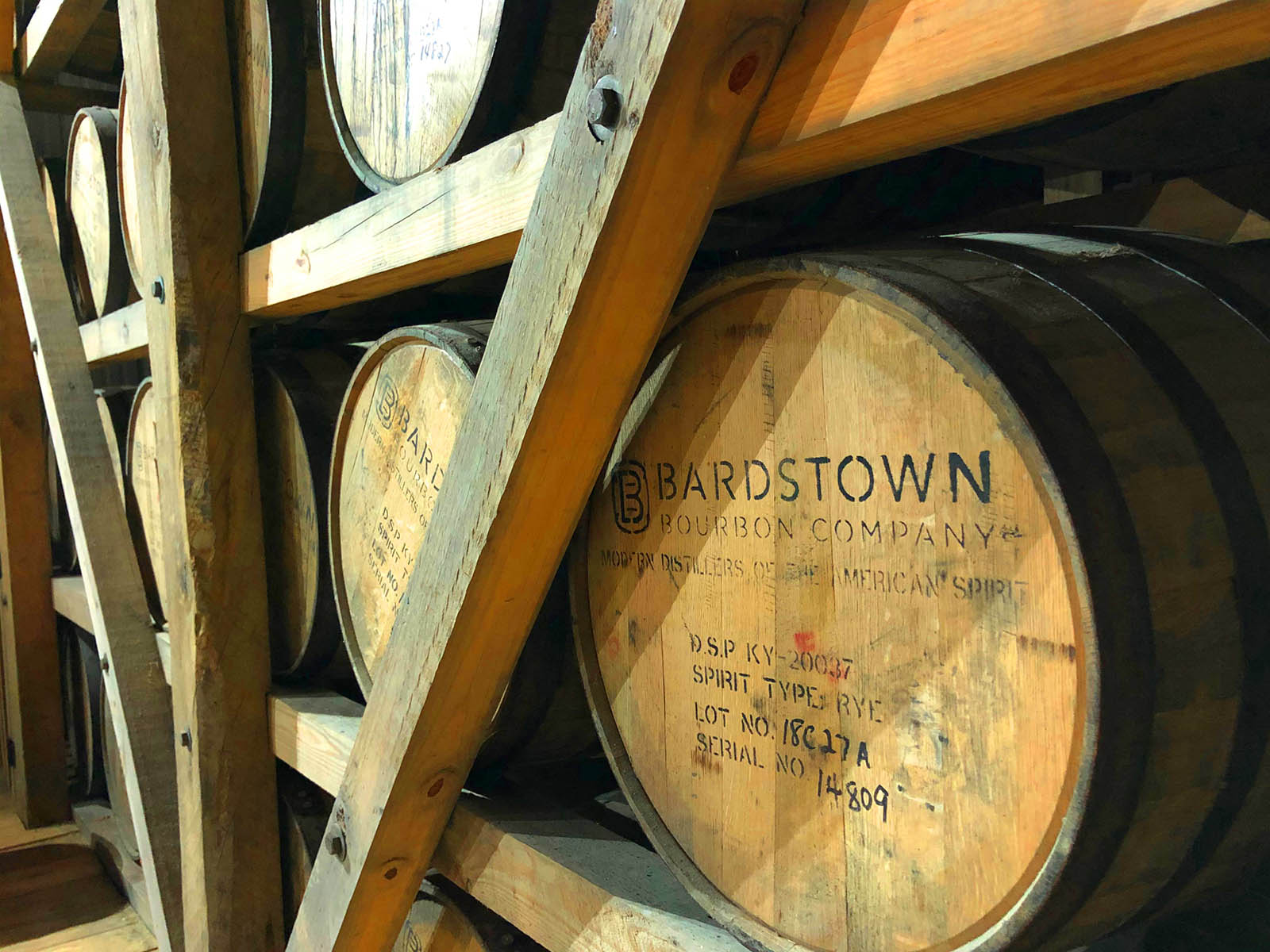 Bardstown Bourbon Company barrels