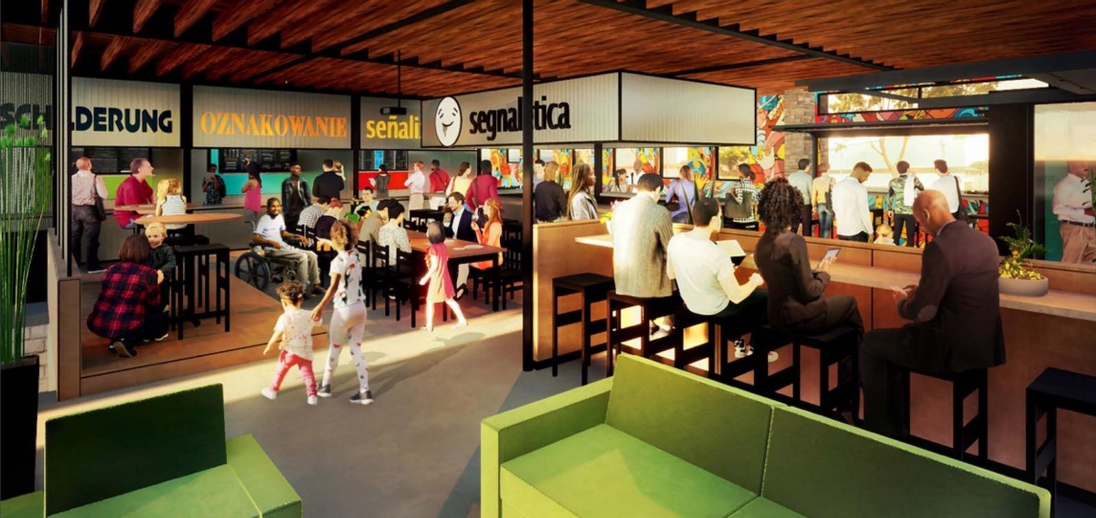 North Avenue Market interior rendering
