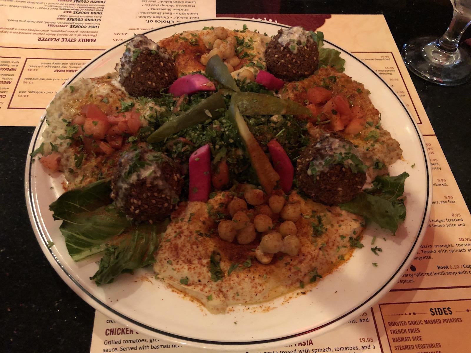Casablanca falafel platter