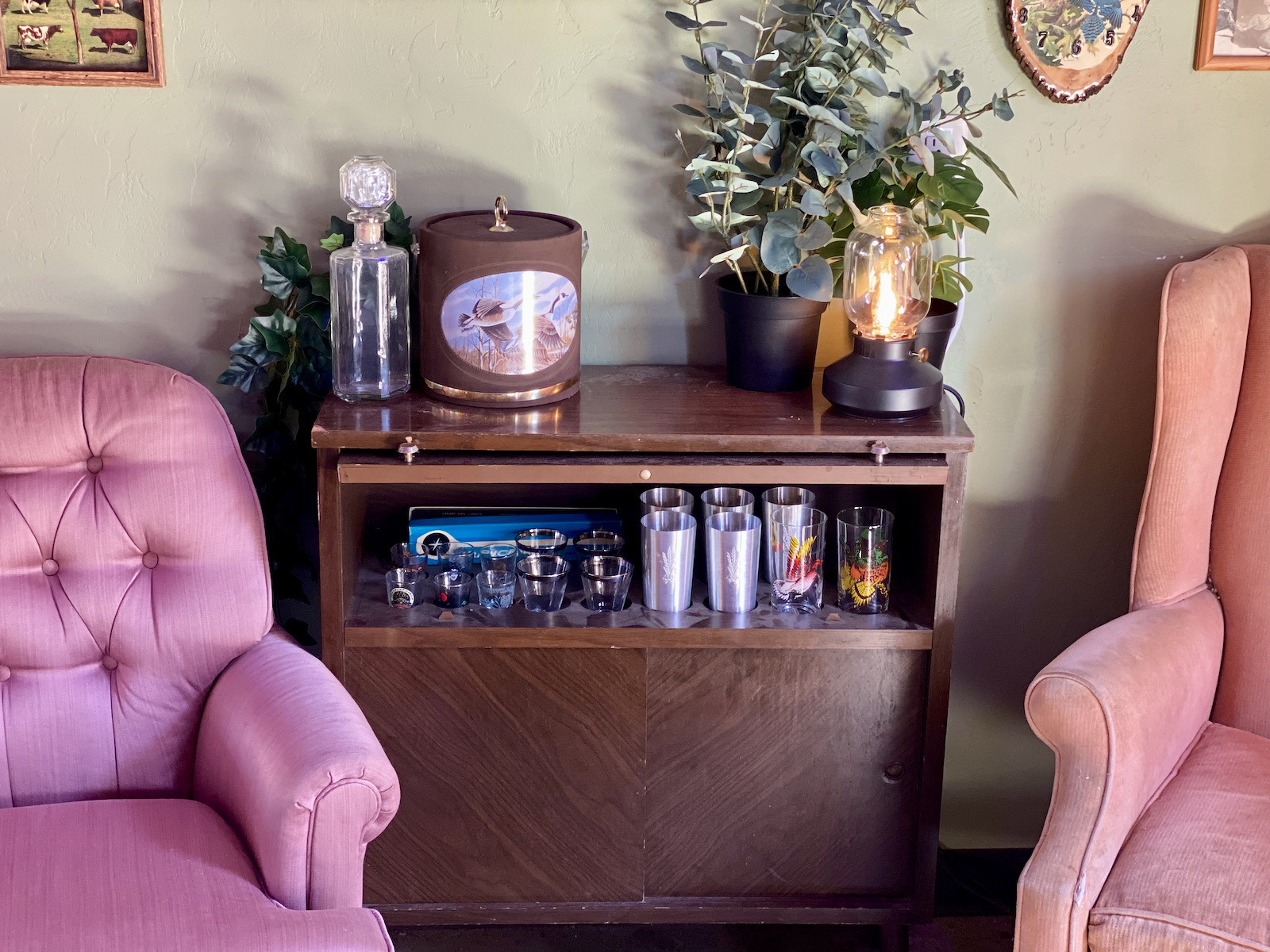A home bar for the lounge at Crafty Cow