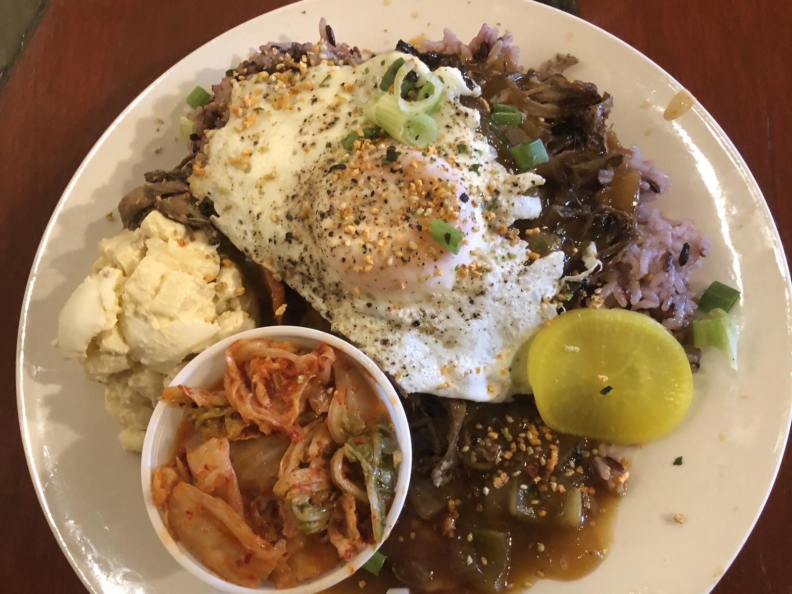 Hawaiian food at Ono Kine Grindz