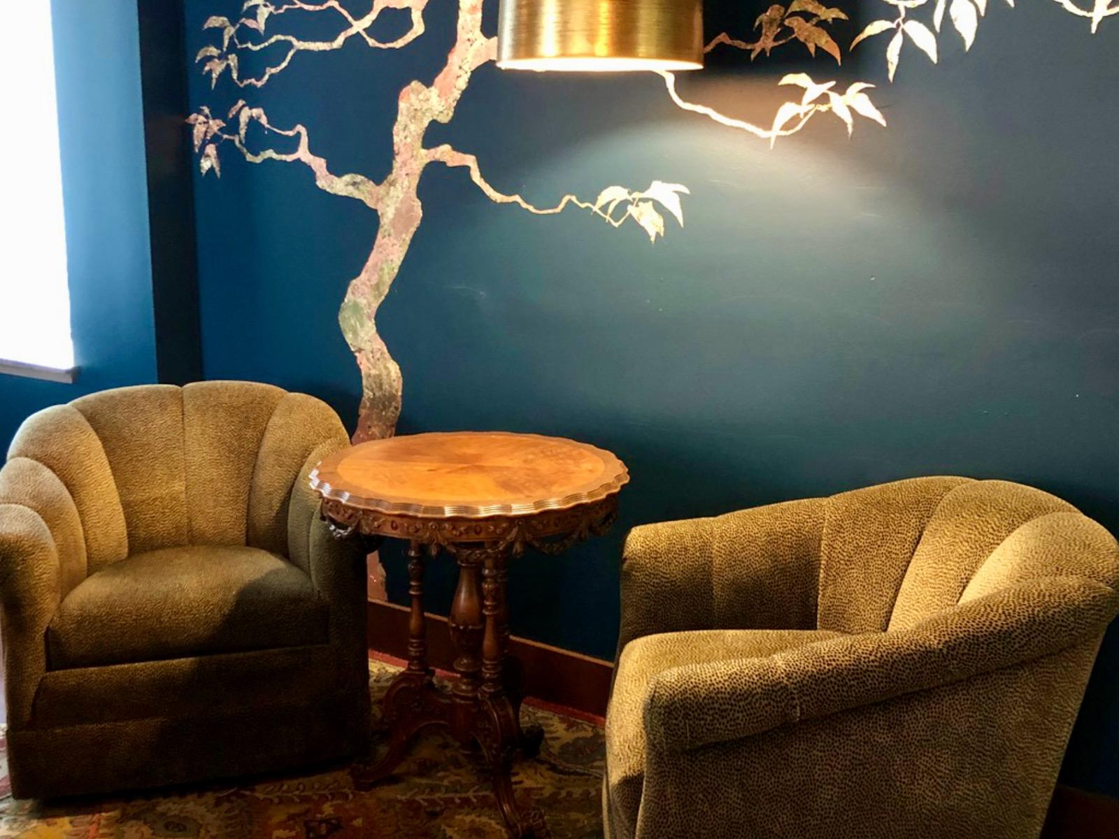 Cozy seats at Scout Wine Merchants