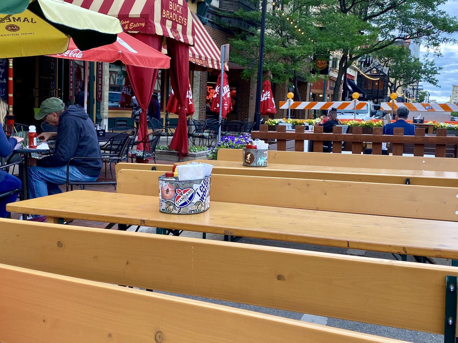 Patio benches