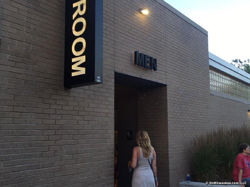 women in mens room