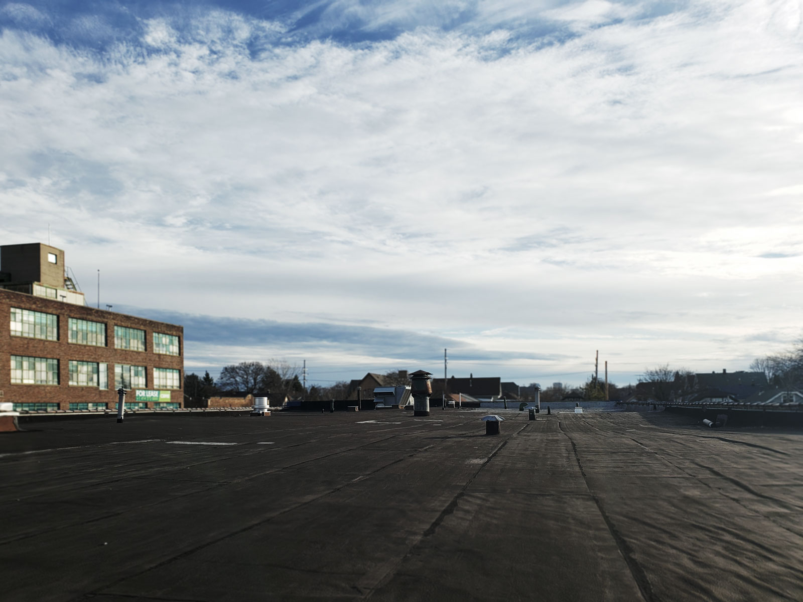 An open, empty rooftop.