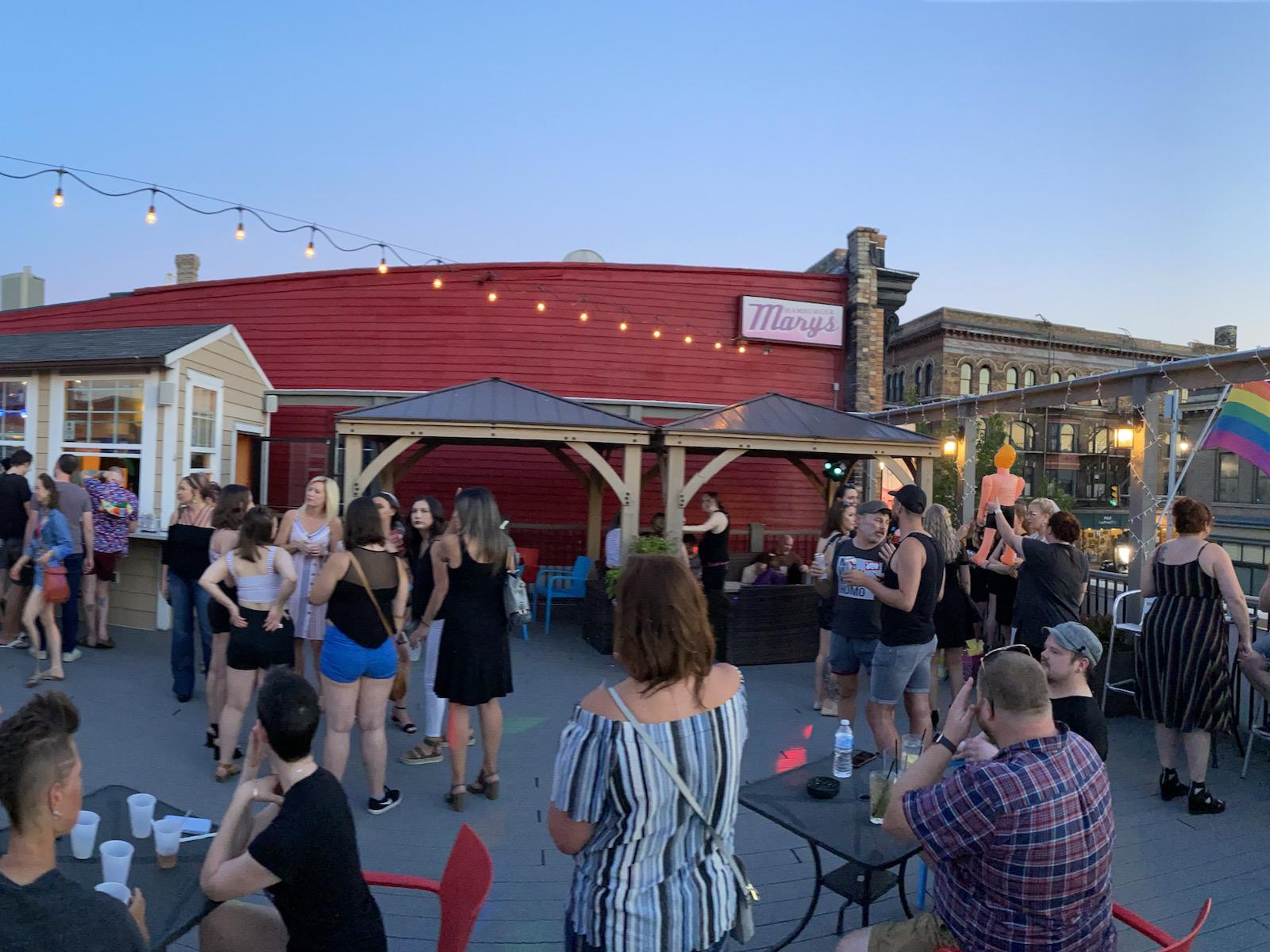 Hamburger Mary's rooftop patio