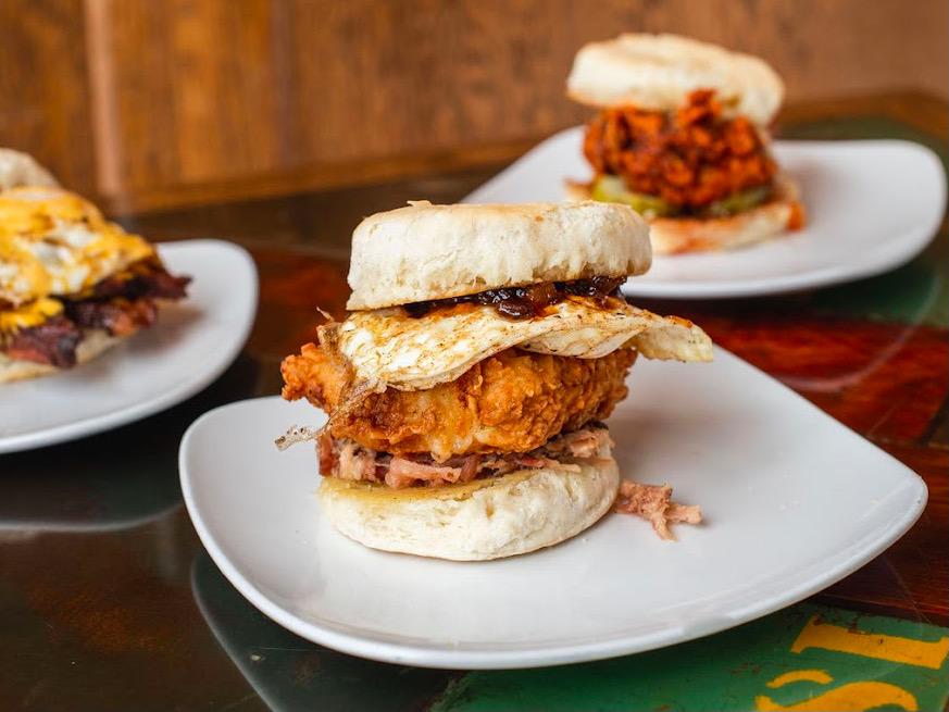 Crafty Cow biscuit sandwiches