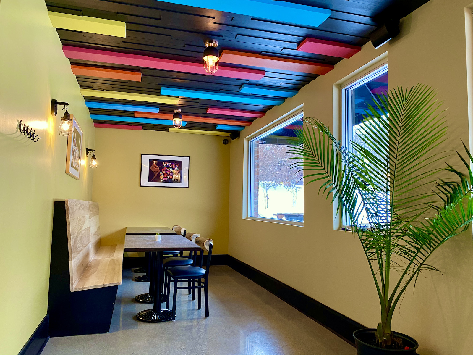 Semi private dining room