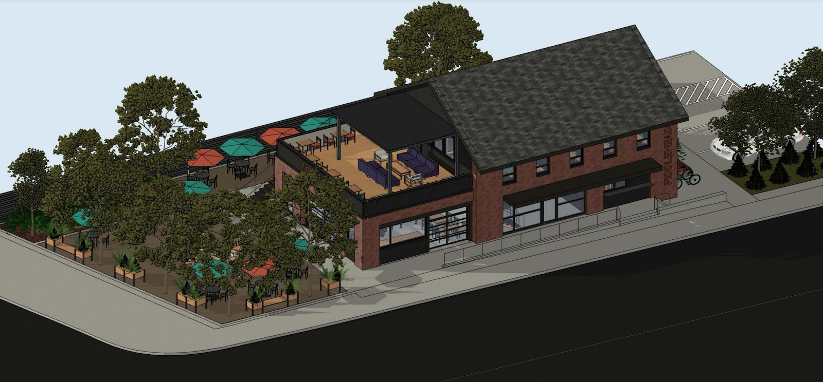 Aerial view of Fiddleheads cafe Wauwatosa