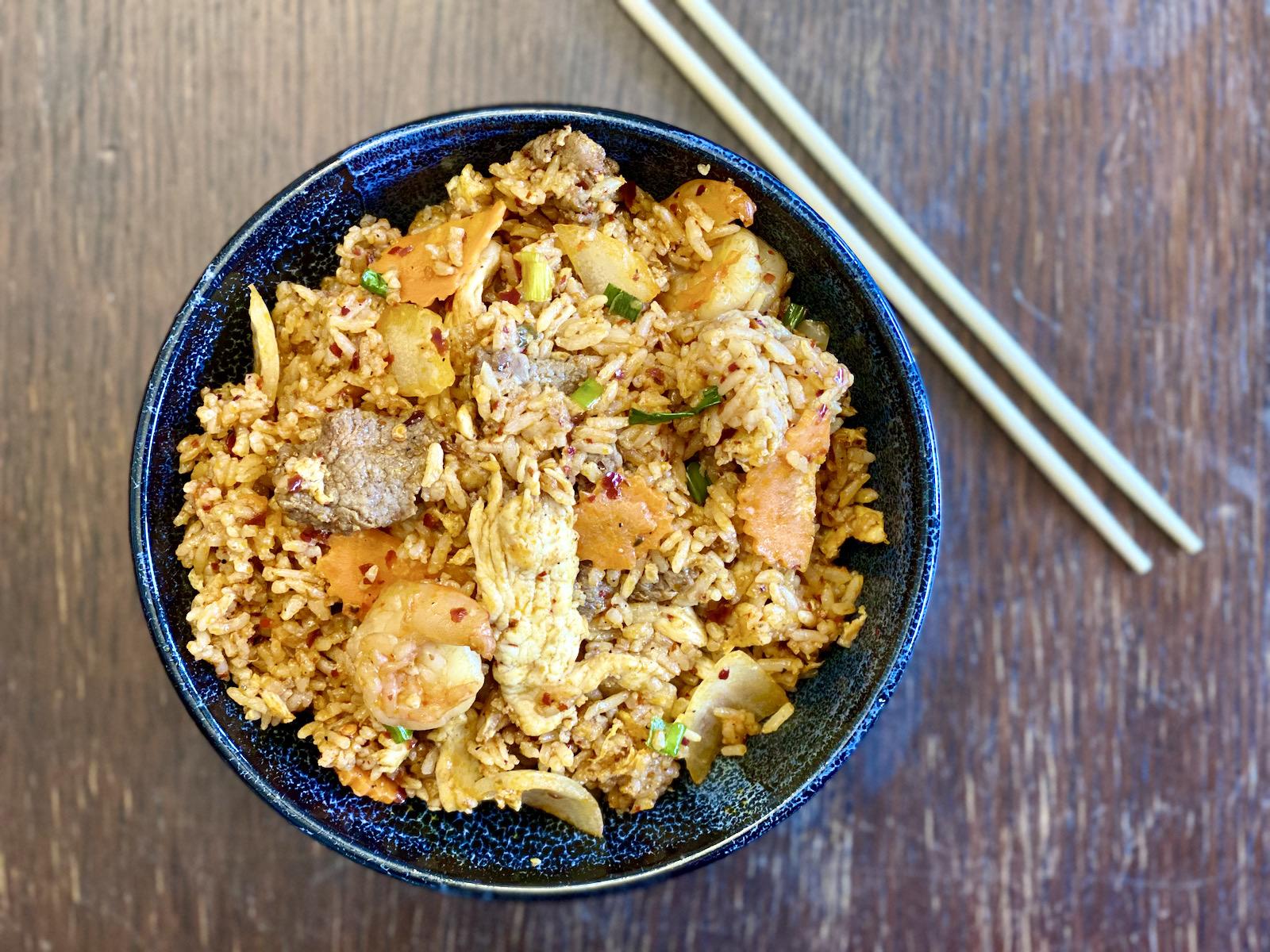 Jeow bong fried rice