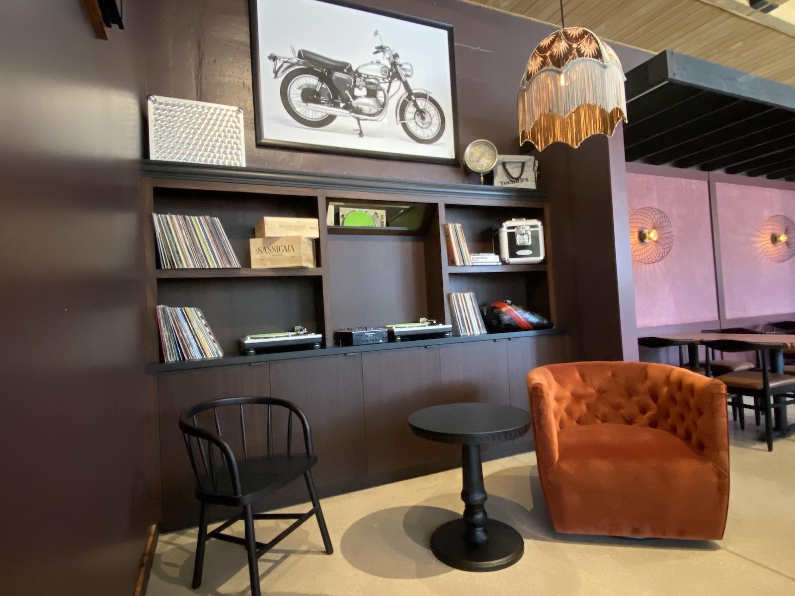 Cozy lounge area