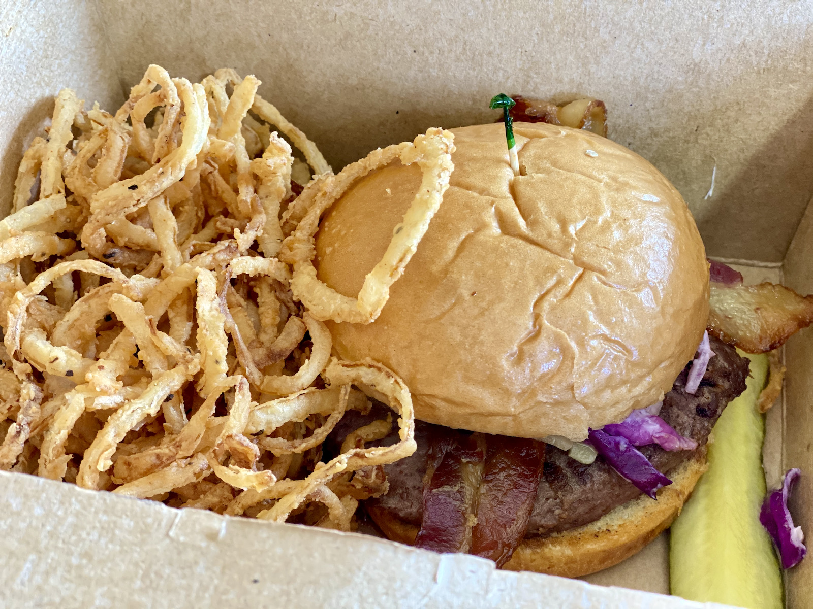 The Irish Cheddar Burger from Leff's Lucky Town