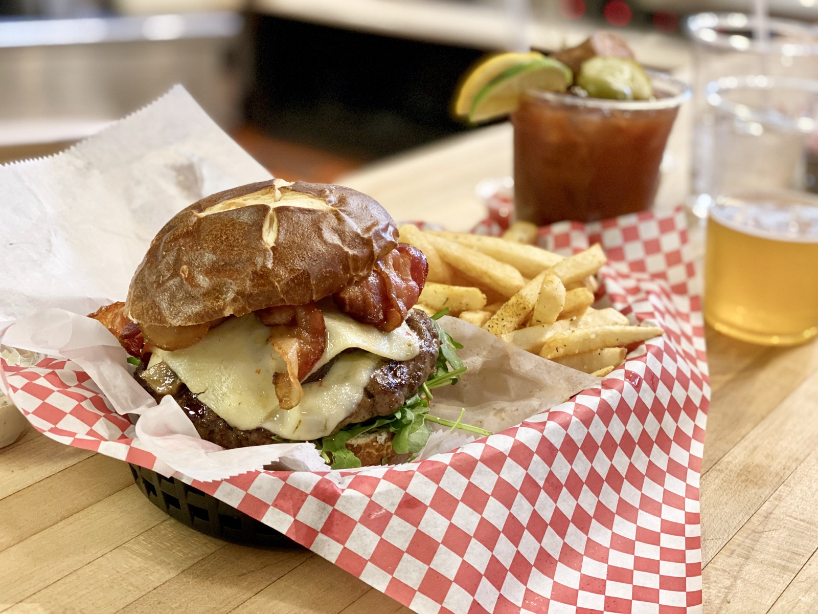 The Bacon Pepper Jack Burger from Foltz Family Market