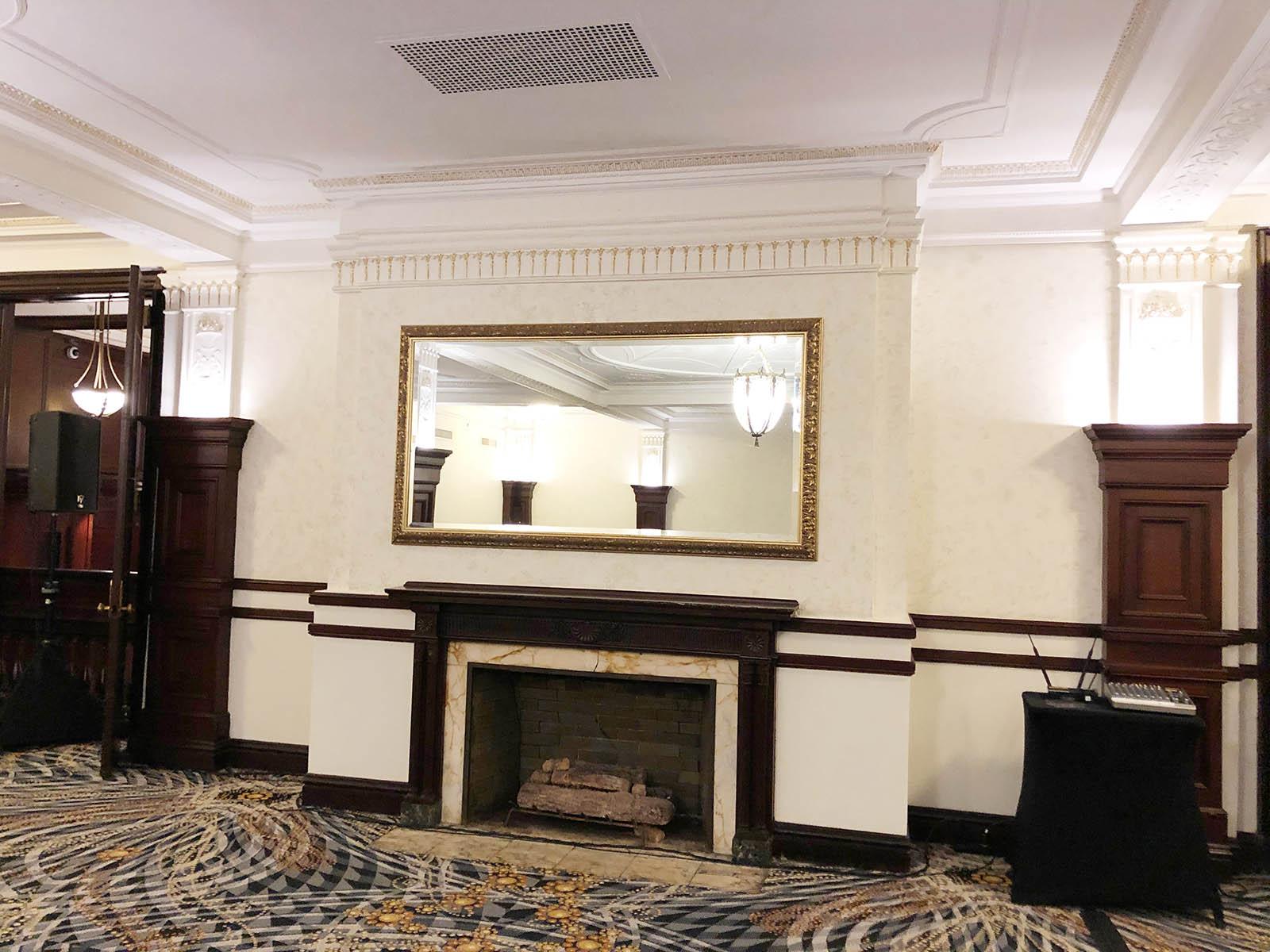 Tea Room fireplace