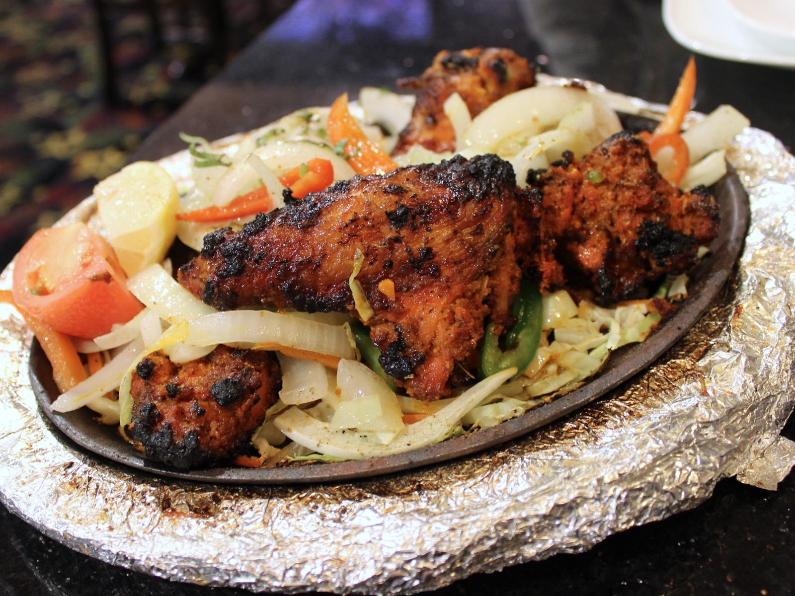 Tandoori chicken at Bollywood Grill