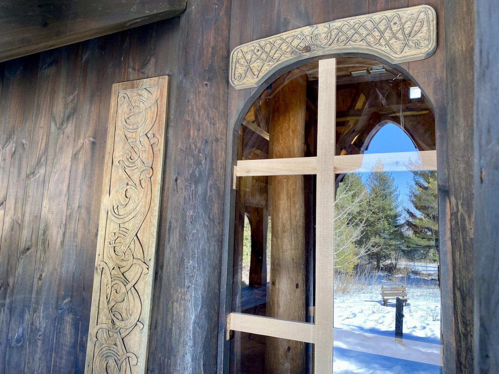 Carvings on Stavekirke