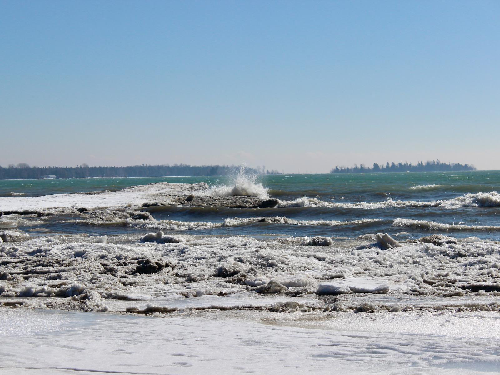 Waves on Lake Michigan