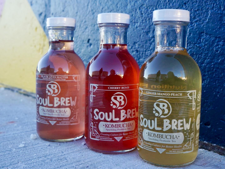 Soul Brew kombucha bottles