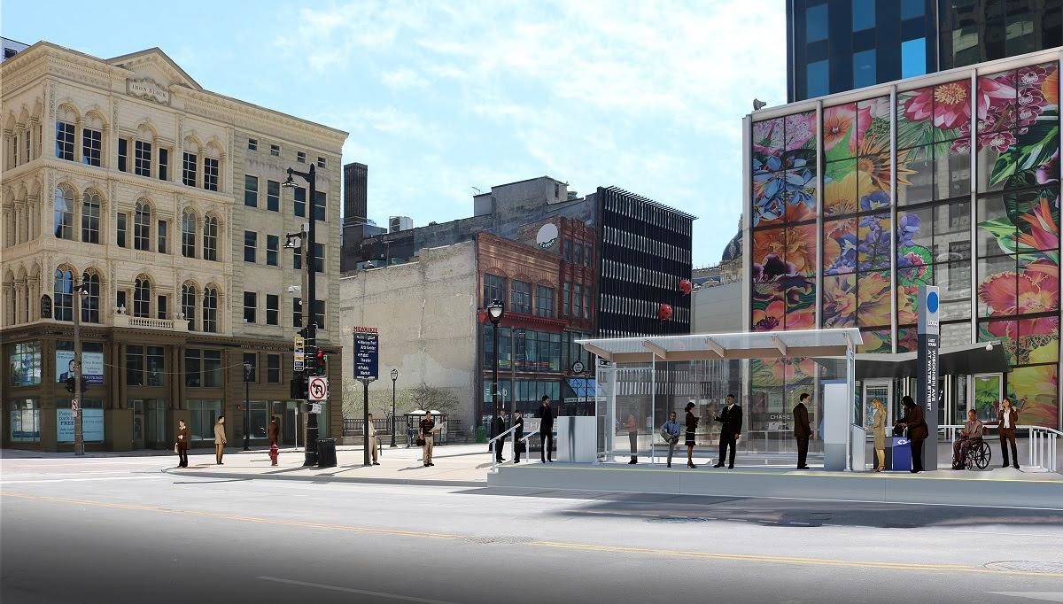 BRT station rendering