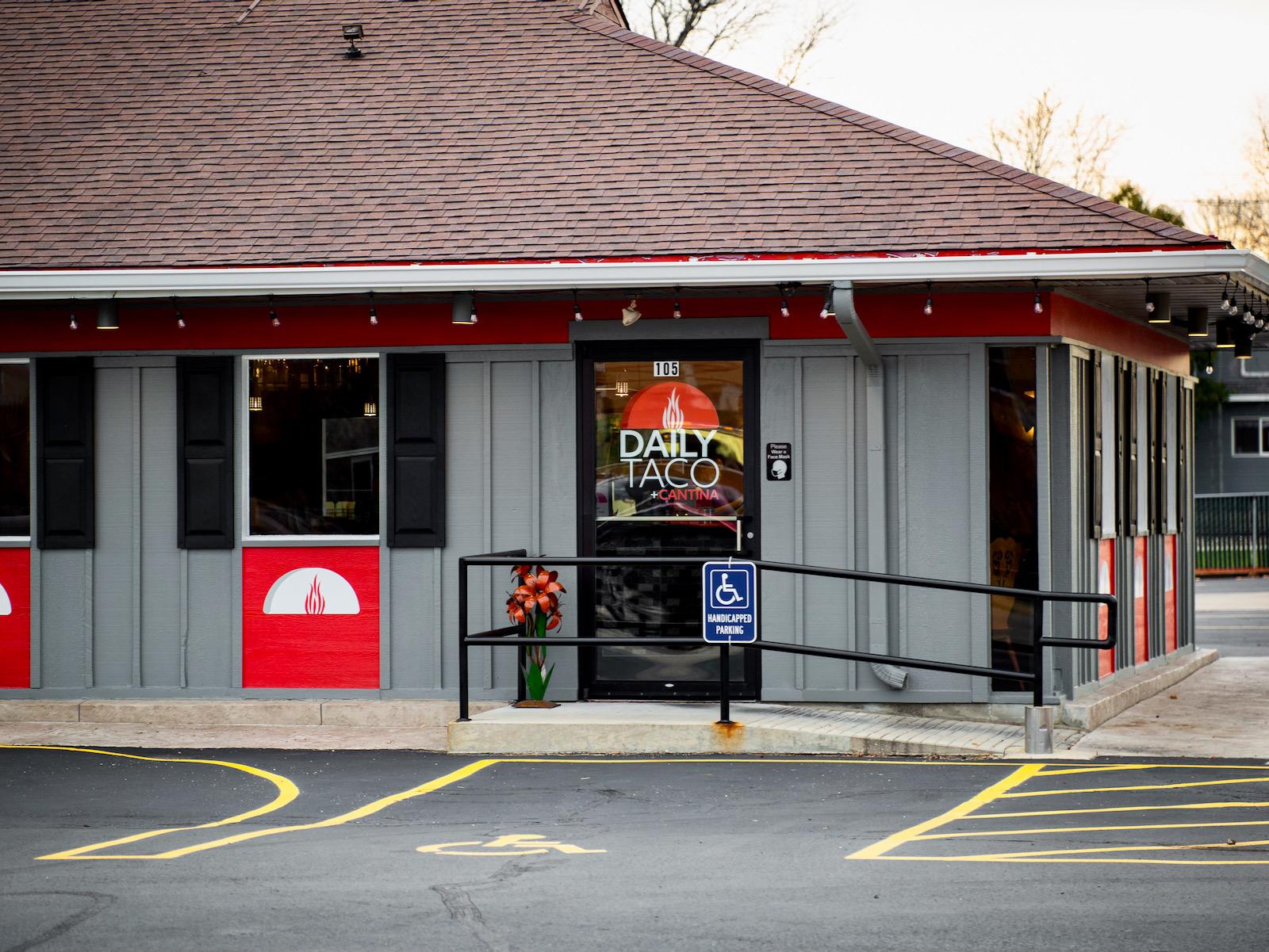 Daily Taco + Cantina exterior of restaurant