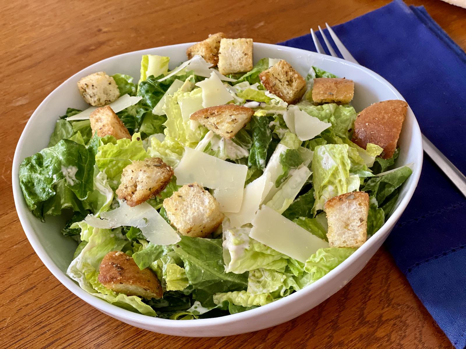 Transfer Pizzeria's Caesar salad