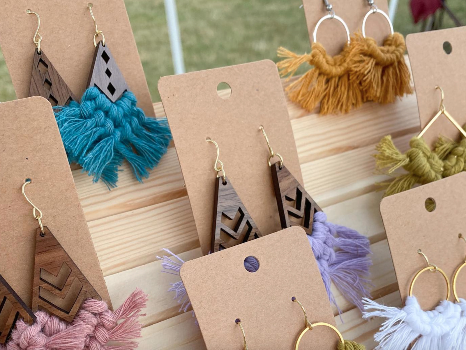 T is for Textile earrings