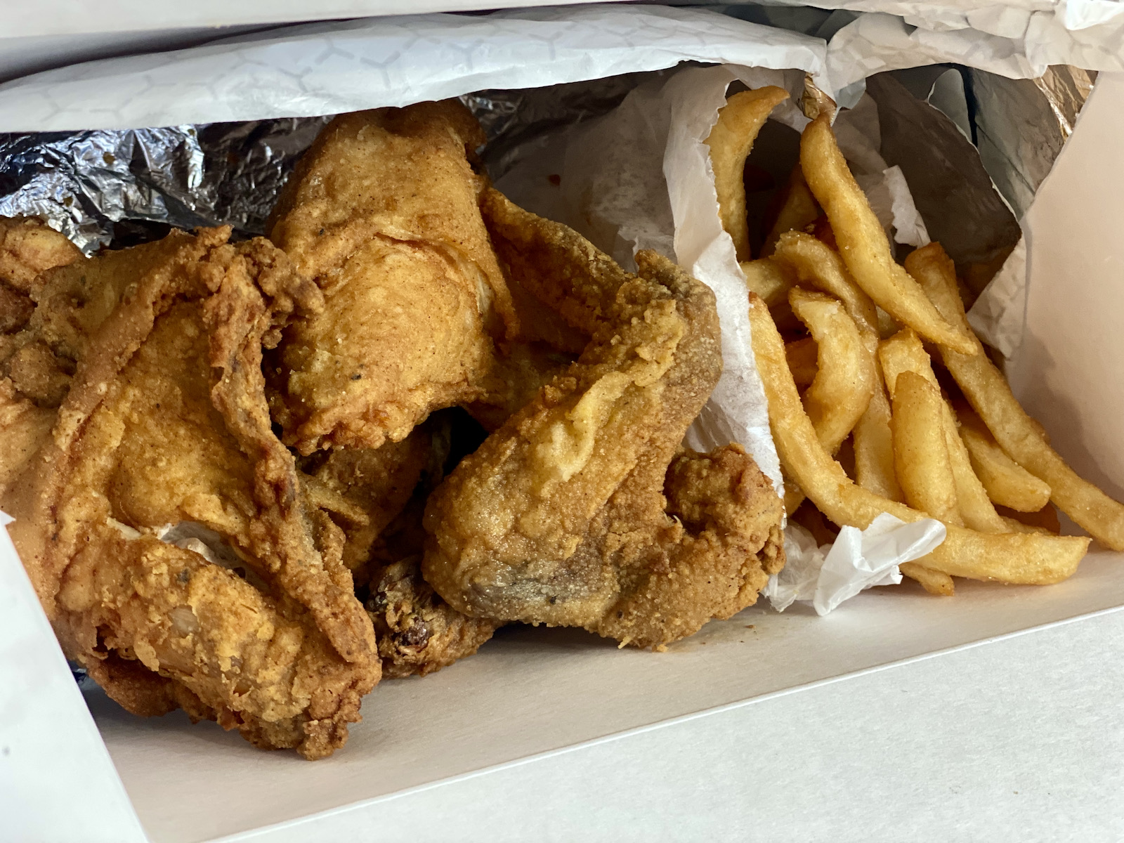 Fried chicken at MooSa's