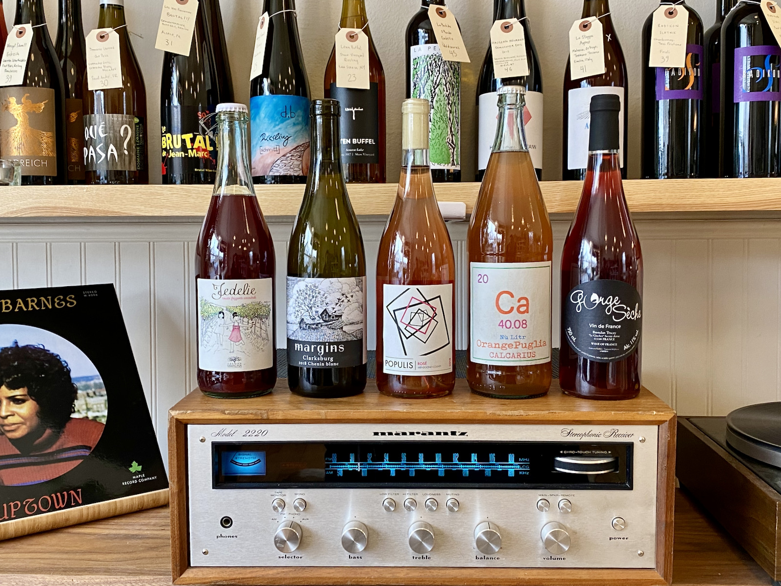 Wines at Nonfiction Natural Wines