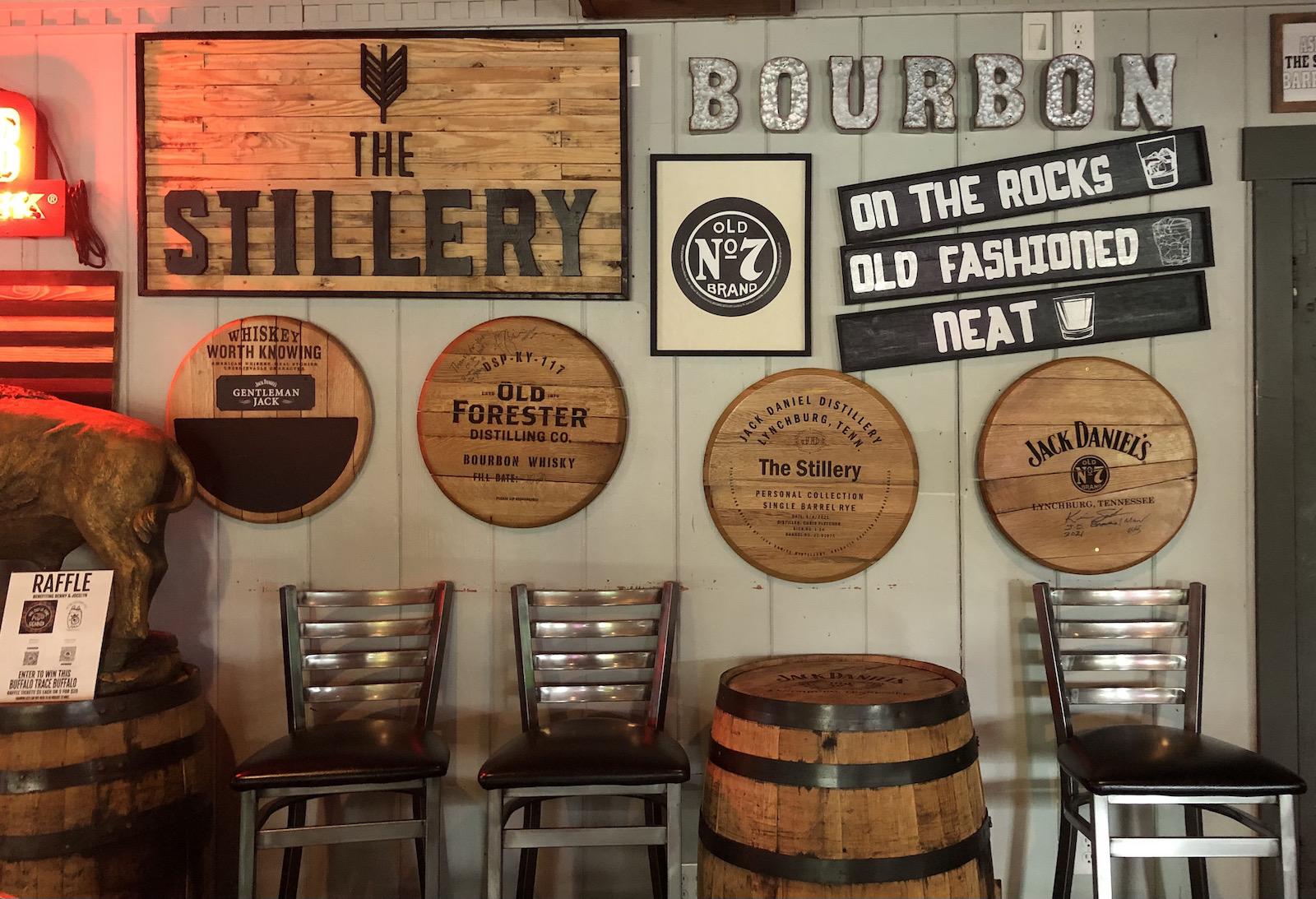 Bourbon theme at The Stillery