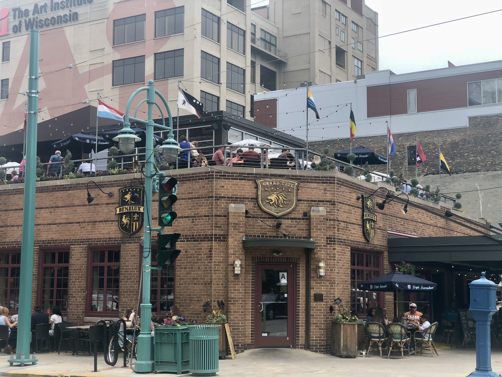 Rooftop patio at Cafe Benelux