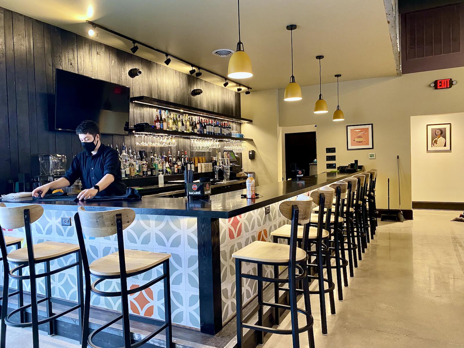 Bar at Noche restaurant
