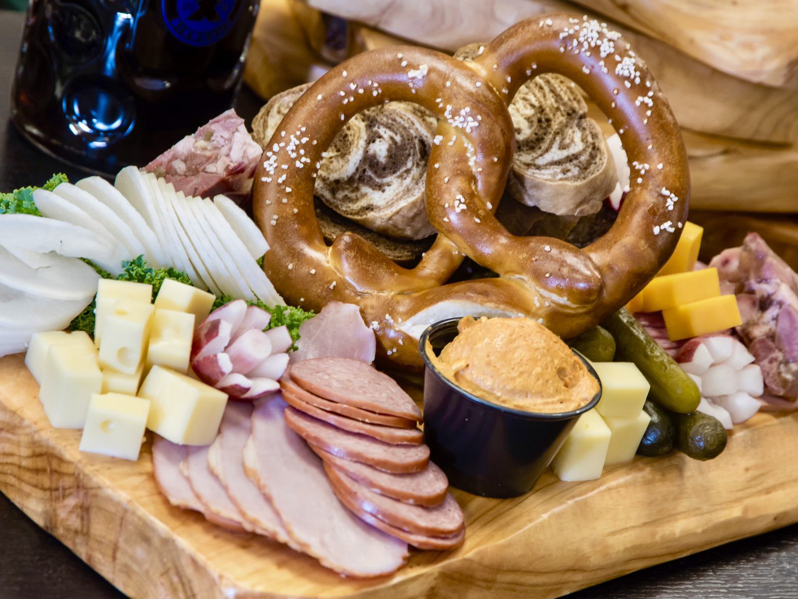 Munich meat and cheese board