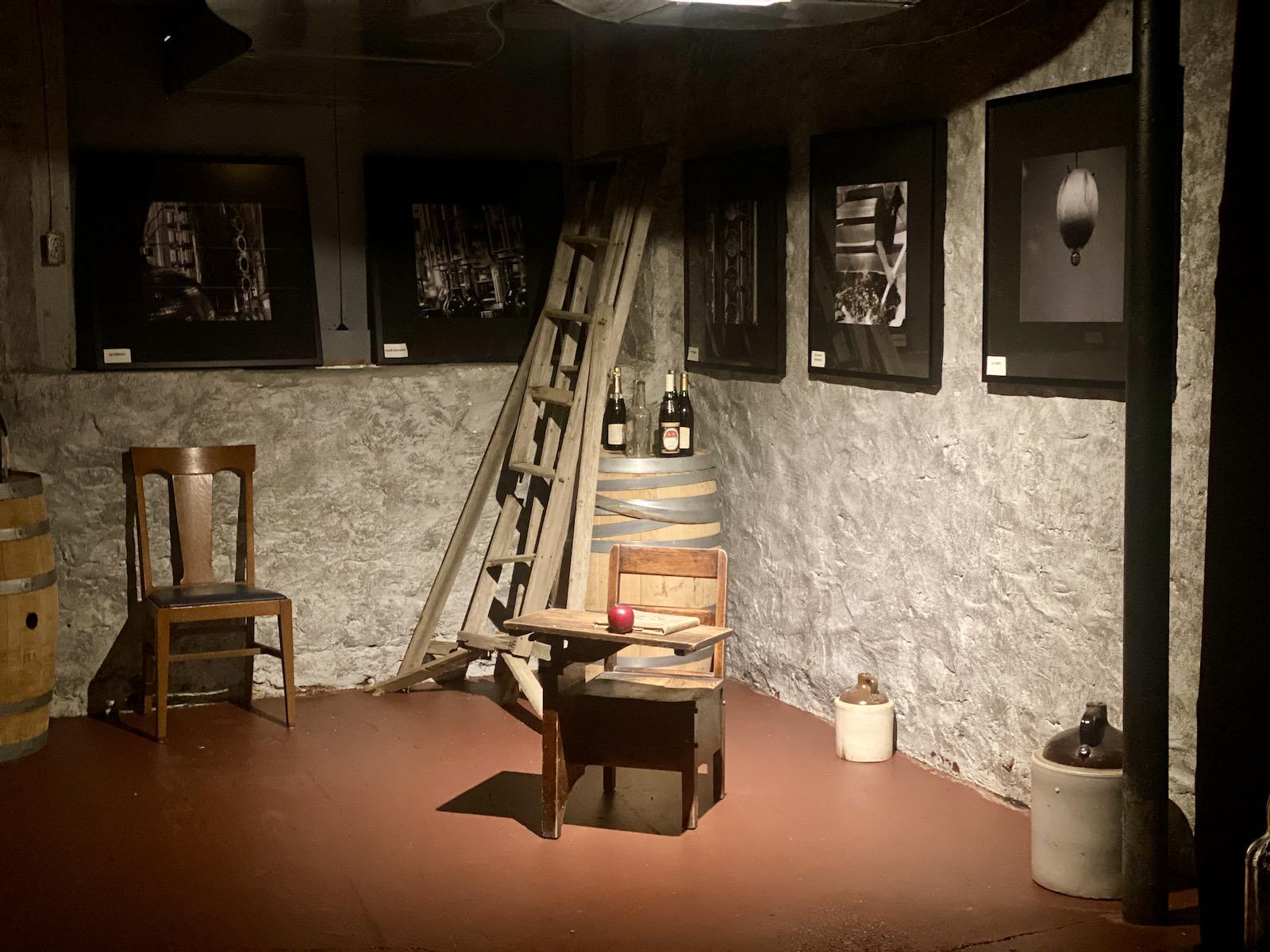 Desk in basement of Penninsula Winery, a former schoolhouse