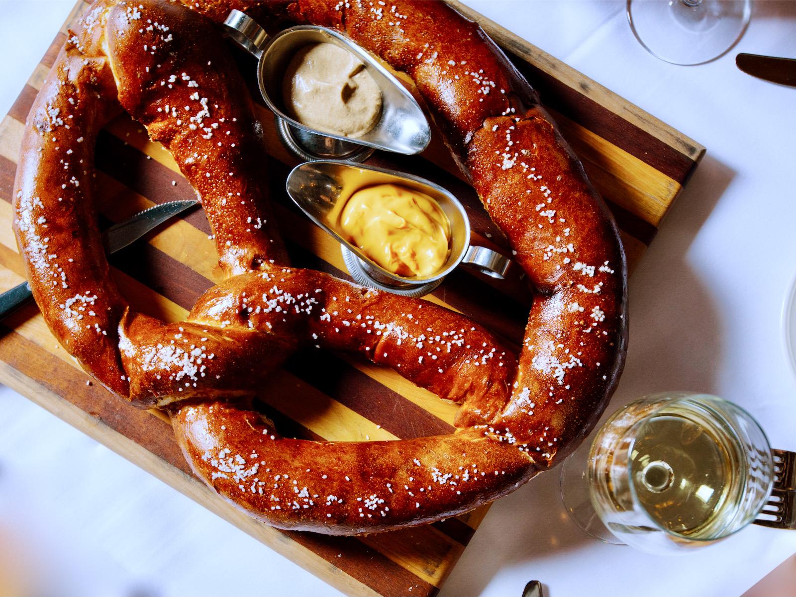 pretzel at Mader's