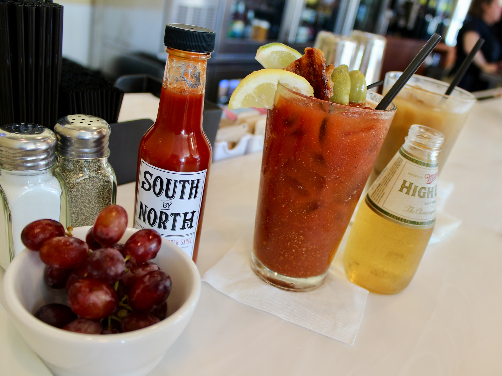 Bloody mary and chaser