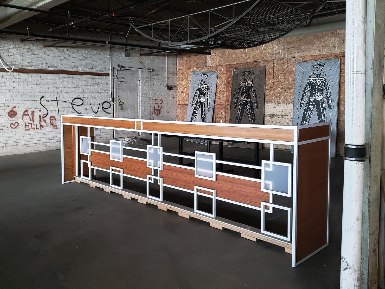 An original, hand-made reception desk