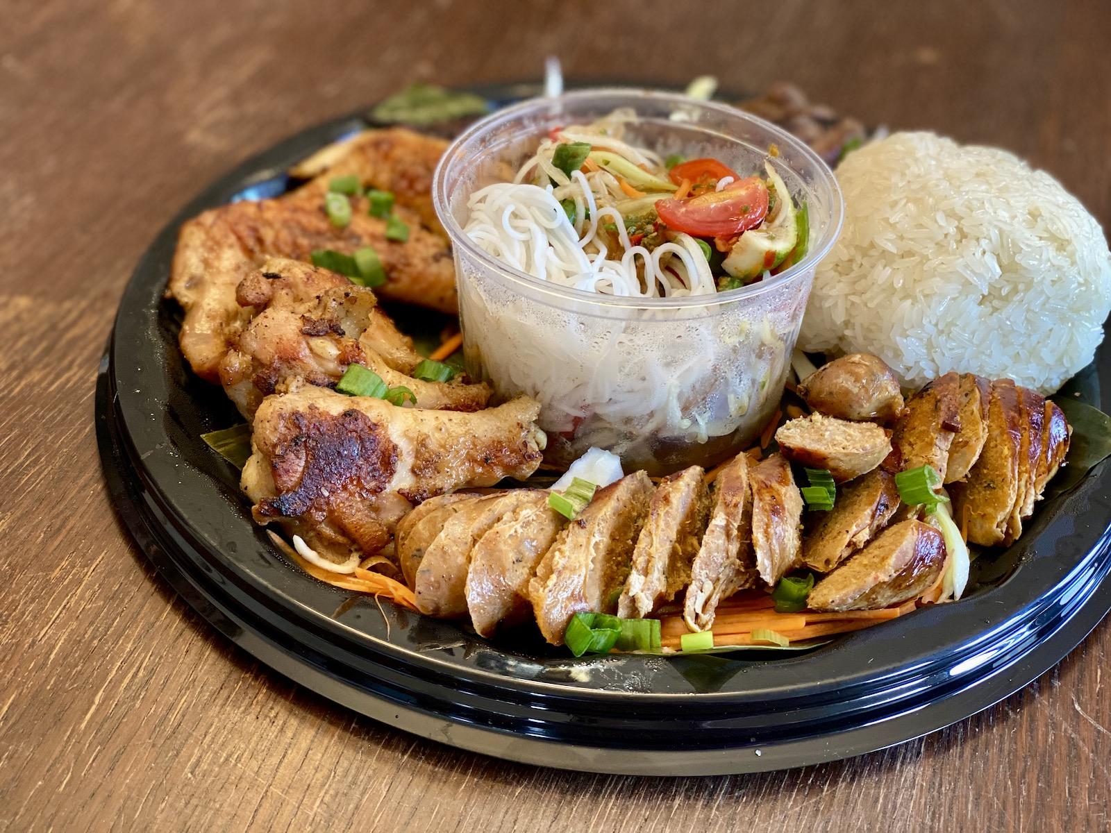 Lao street food platter