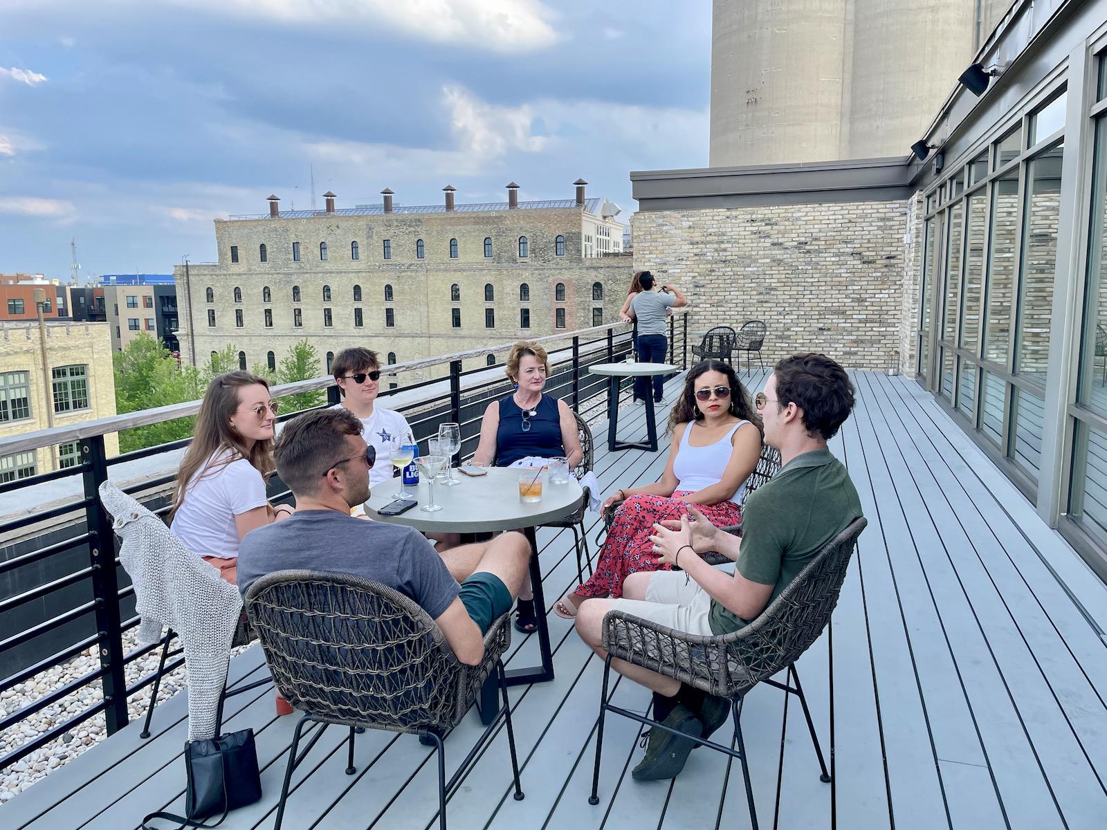 Skyline Bar & Lounge rooftop patio