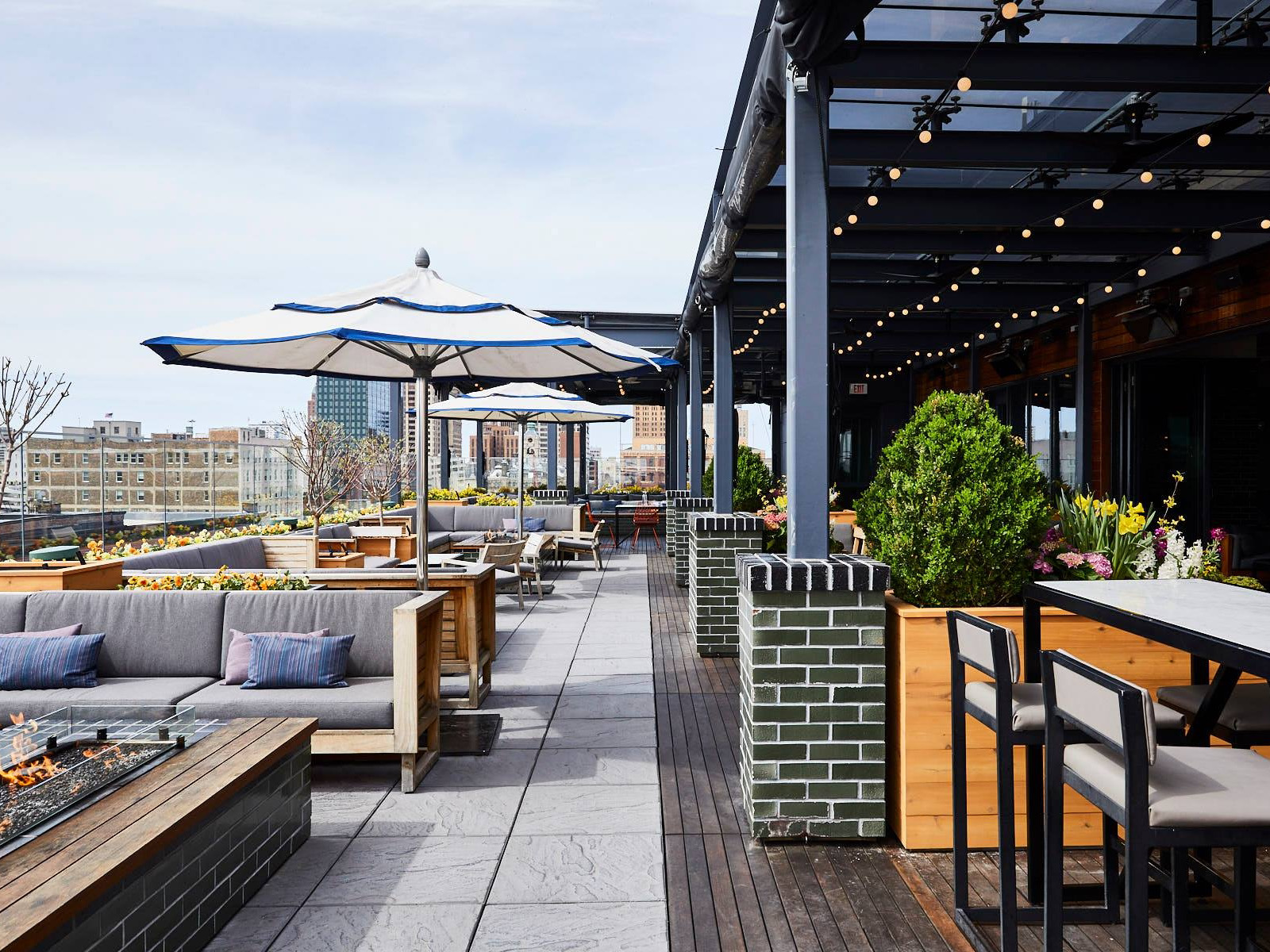The Outsider rooftop patio